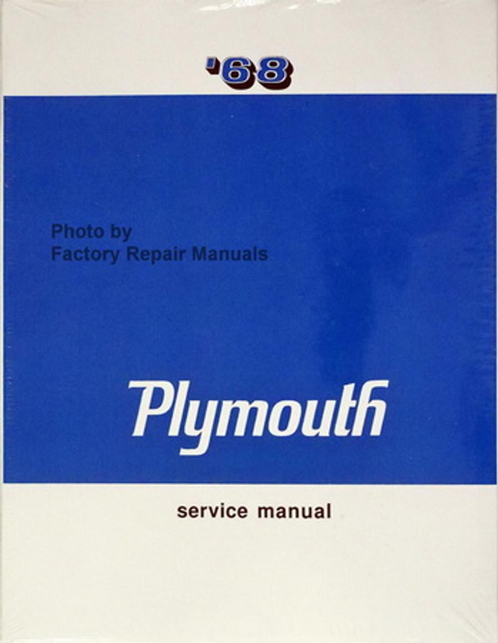 68 plymouth barracuda wiring diagram 1968 plymouth shop service manual barracuda belvedere fury gtx  1968 plymouth shop service manual