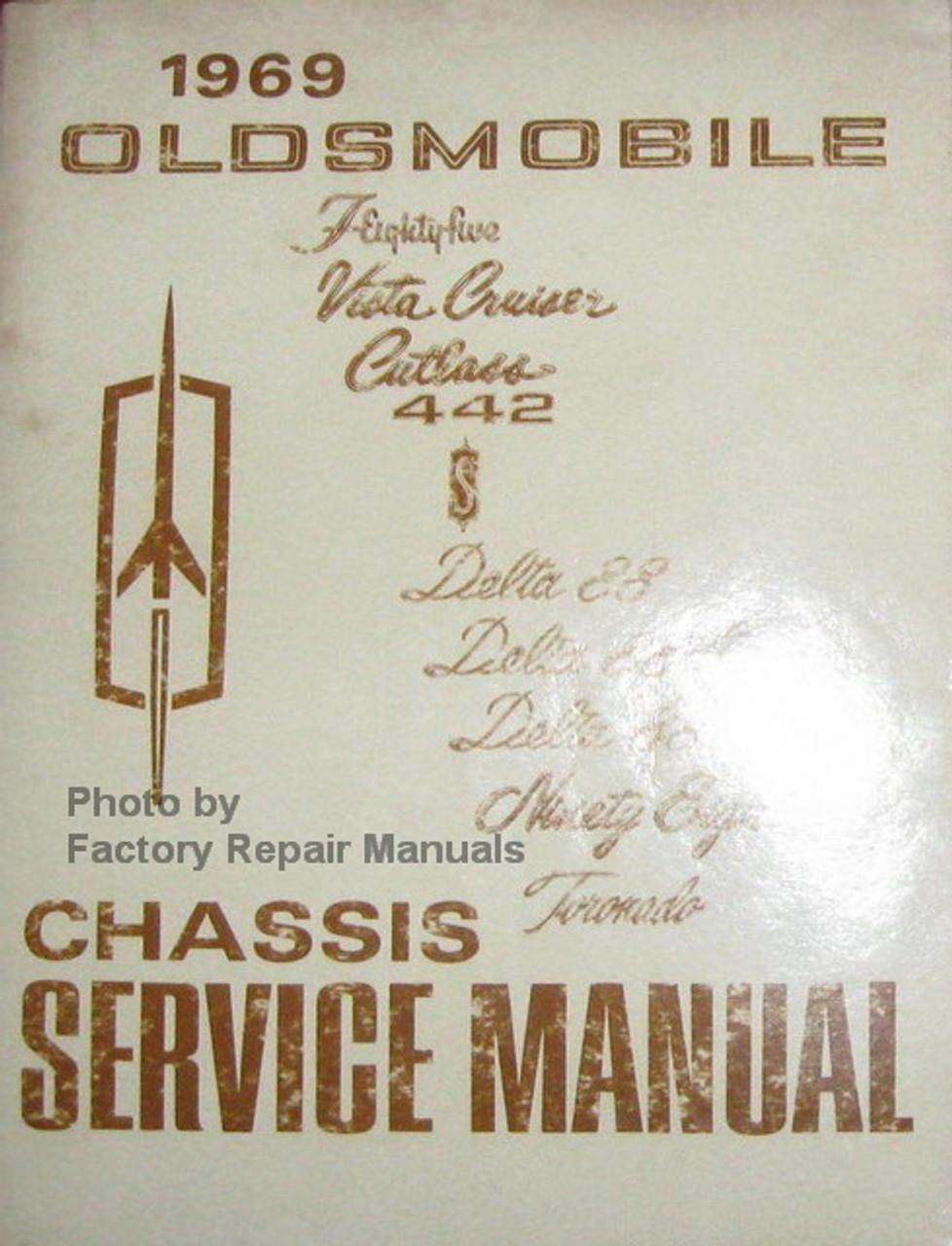1969  69    OLDSMOBILE//442// CUTLASS BODY REPAIR  MANUAL