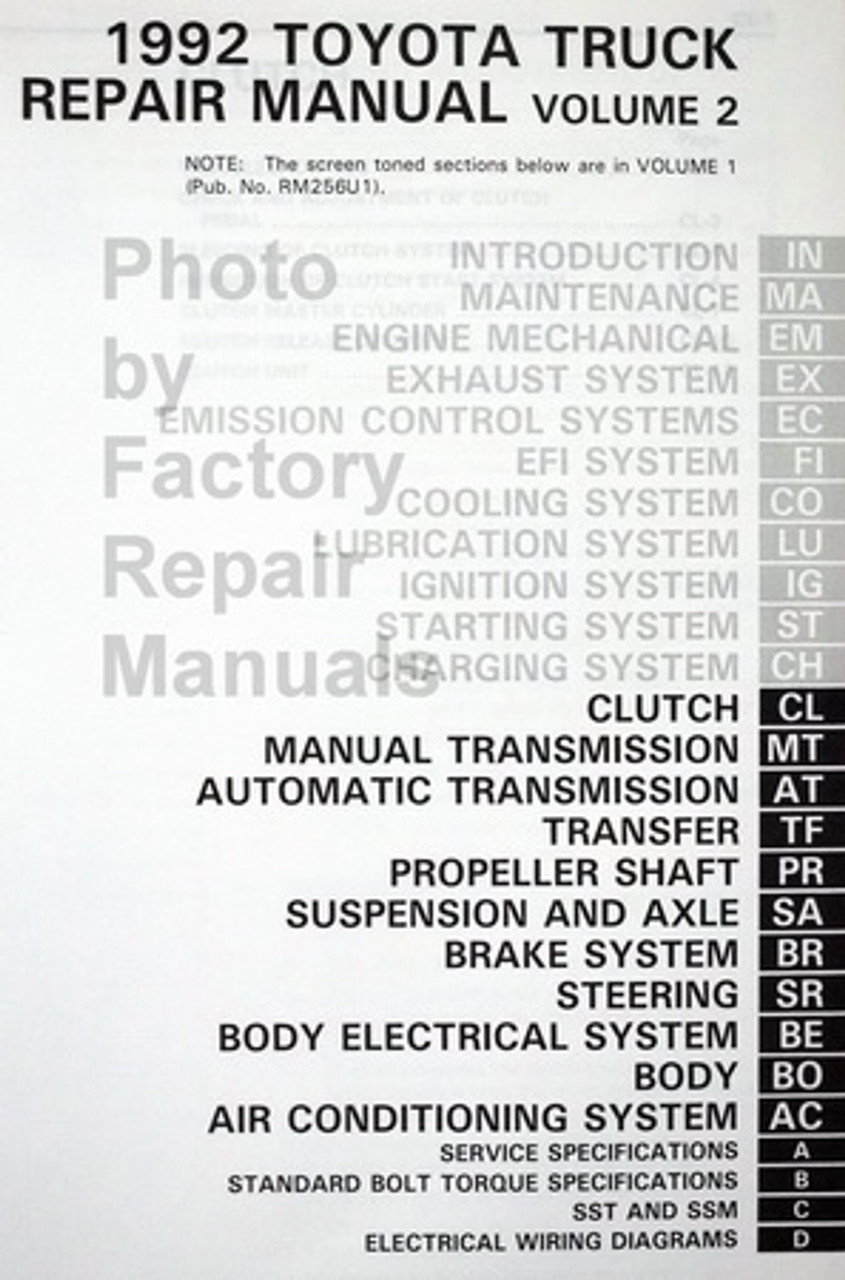 Diagram  1999 Toyota Sienna Service Shop Repair Manual Set Service Manual And The Wiring