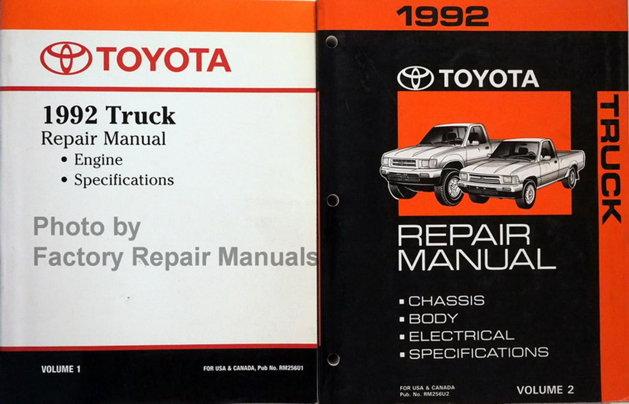 1992 Toyota Pickup Truck Factory Service Manual Set Original Shop Repair Used Factory Repair Manuals