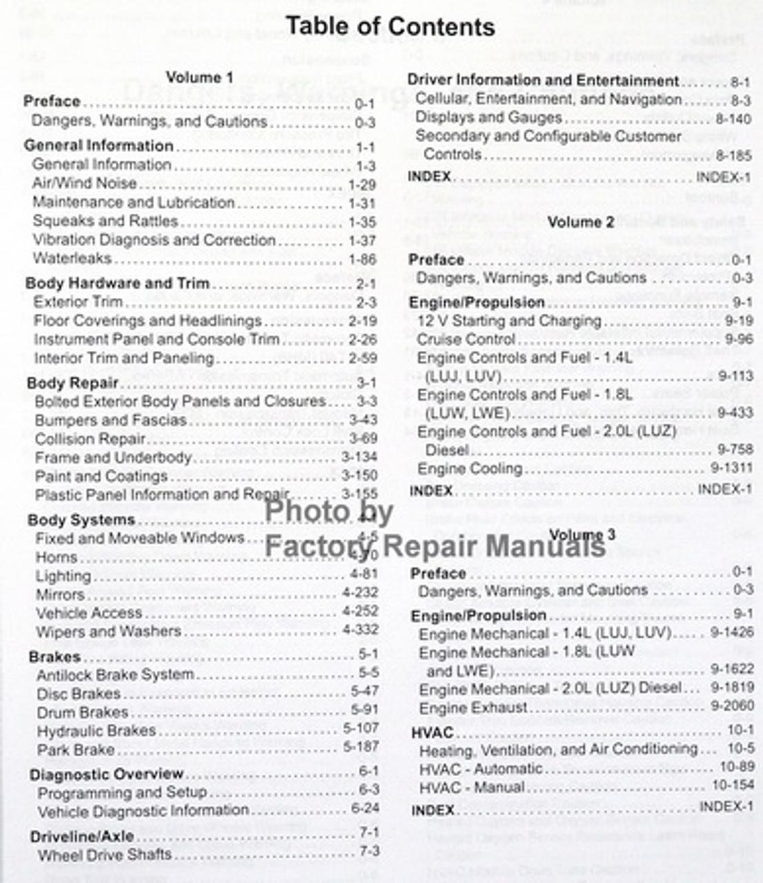 2015 Chevy Cruze Factory Service Manual Complete Set Original Shop Repair