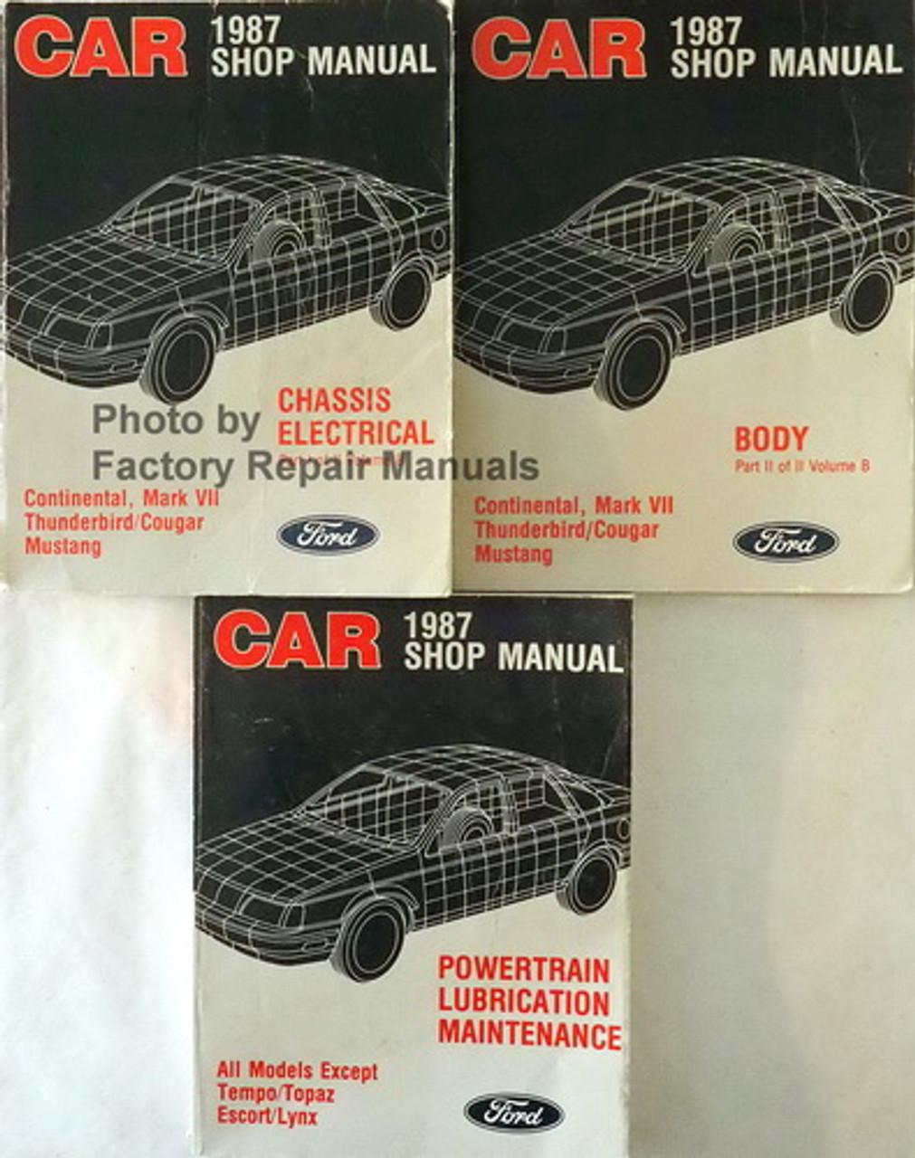 1984 FORD MUSTANG THUNDERBIRD ESCORT LTD MARQUIS ENGINE EMISSIONS SERVICE MANUAL