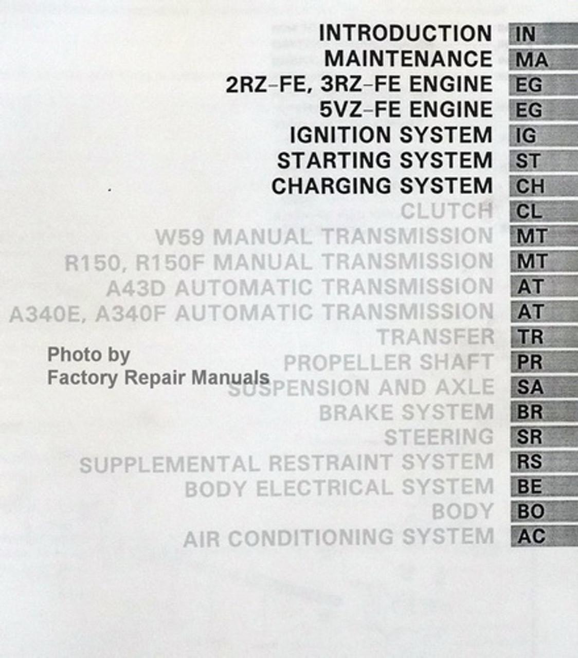 1995 Toyota Tacoma Factory Service Manual Set Original