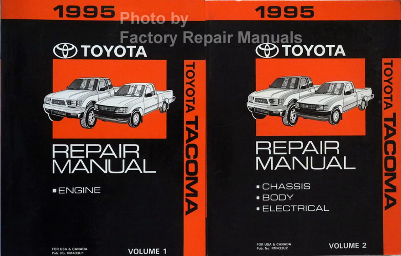 1995 Toyota Tacoma Factory Service Manual Set Original Shop Repair Factory Repair Manuals
