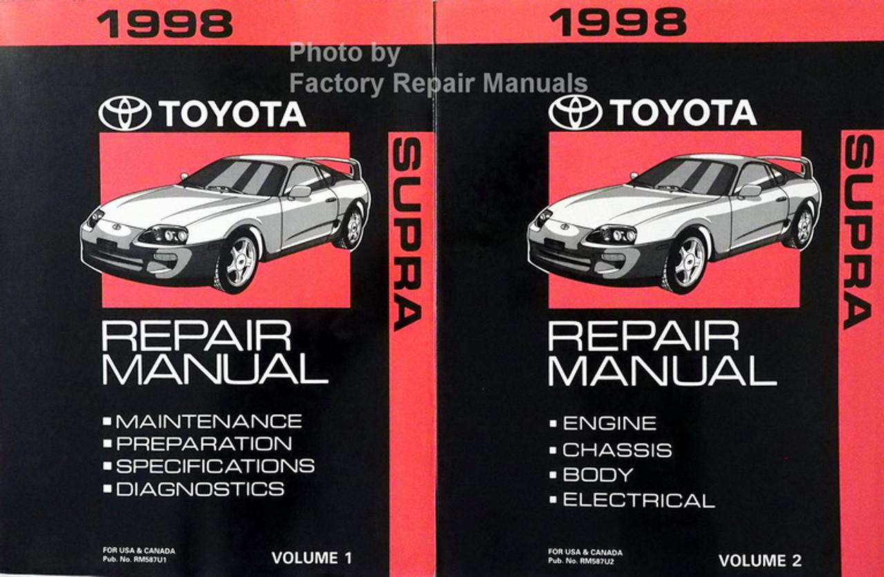 1998 Toyota Supra Factory Service Manual Set Original Shop Repair Factory Repair Manuals