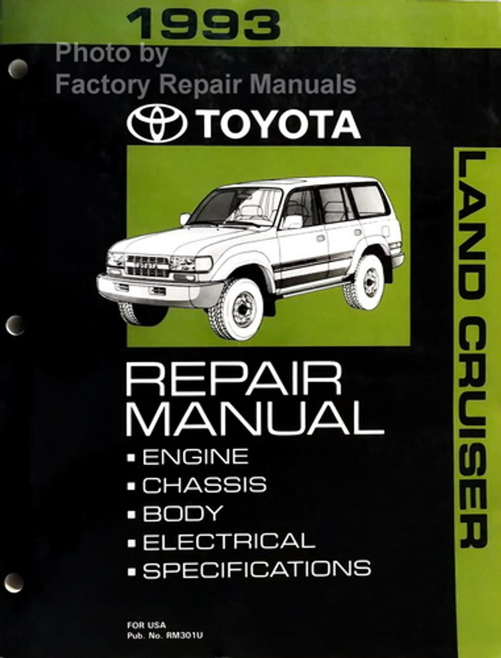 1993 Toyota Land Cruiser Factory Service Manual Original Shop Repair Factory Repair Manuals