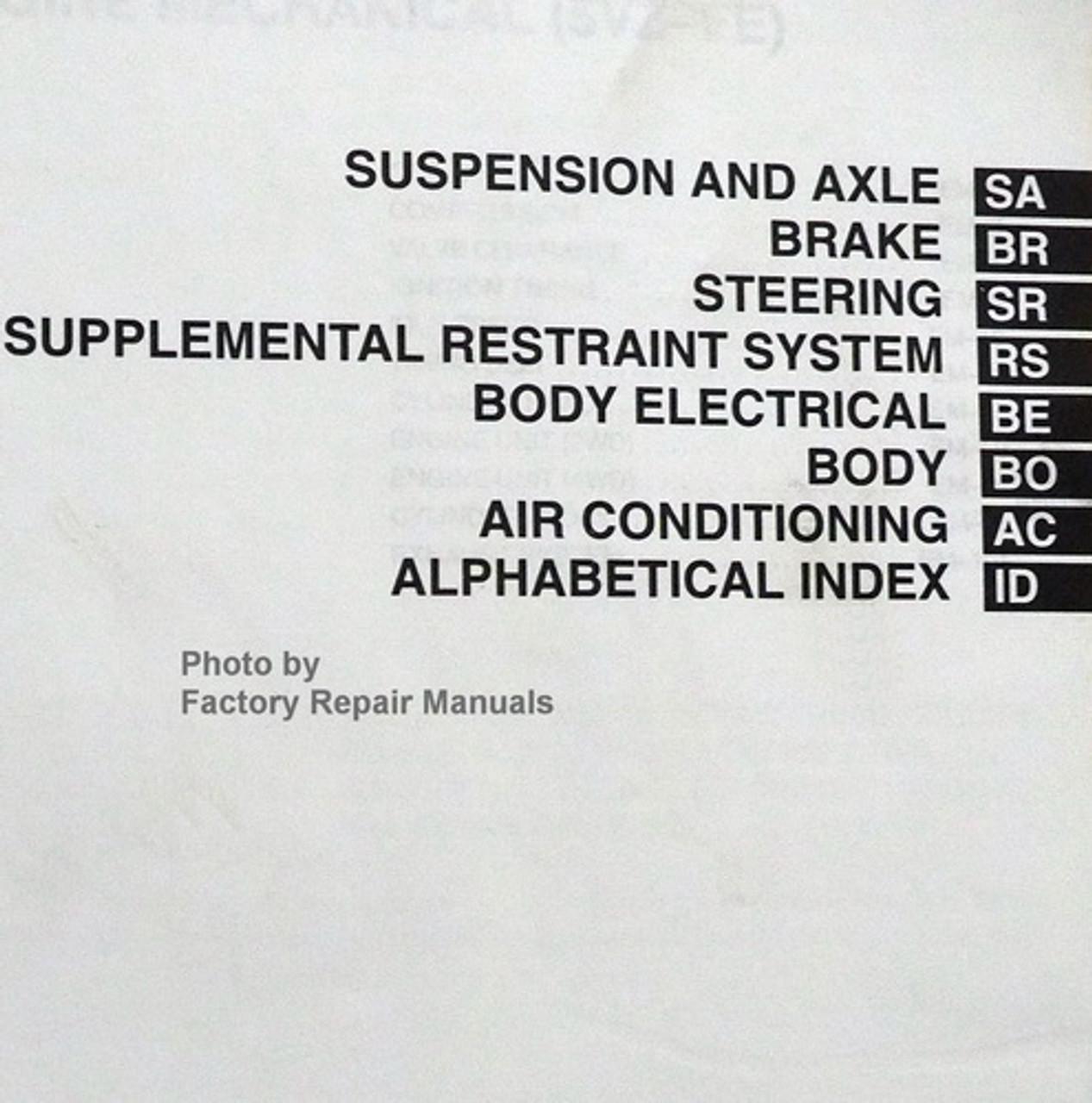2001 Toyota Tundra Factory Service Manual Set Original