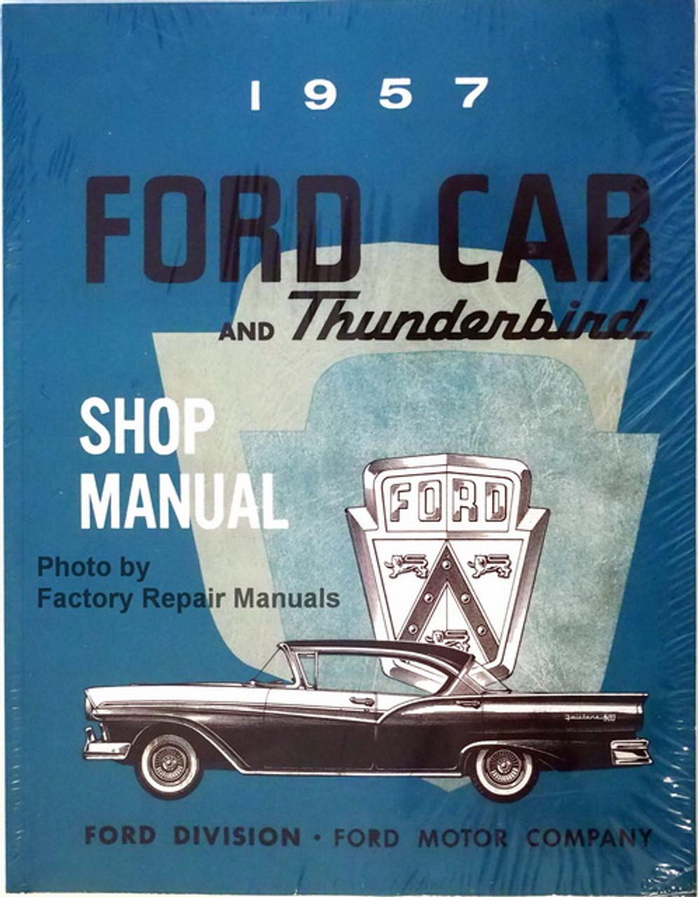 1957 Ford Car Shop Service Manual Thunderbird Skyliner