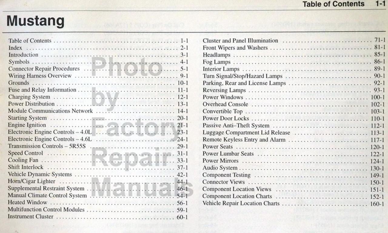 90 mustang wiring diagram 2005 ford mustang electrical wiring diagrams original manual  2005 ford mustang electrical wiring