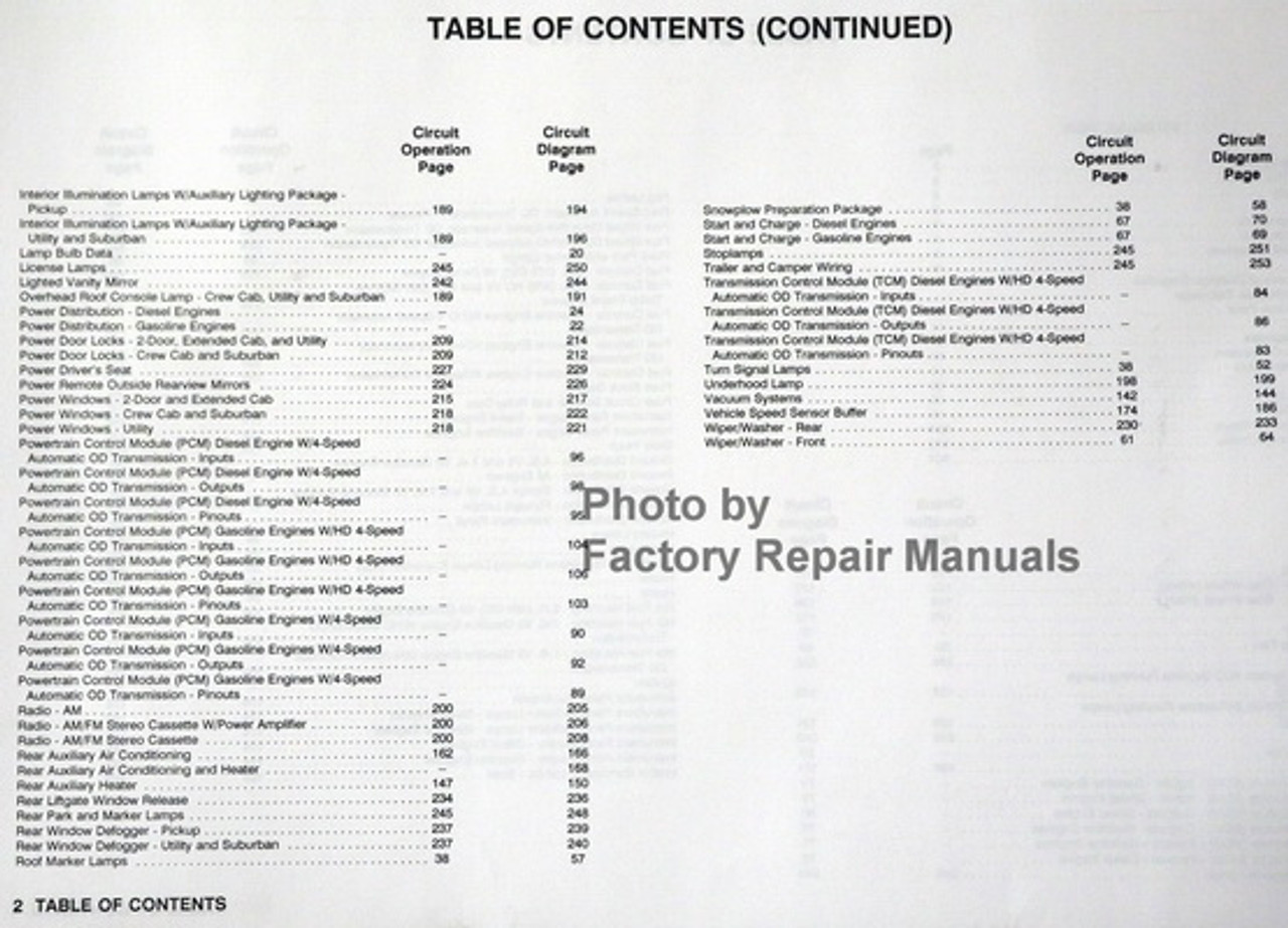1993 Gmc Truck Sierra Yukon Suburban Electrical Diagnosis