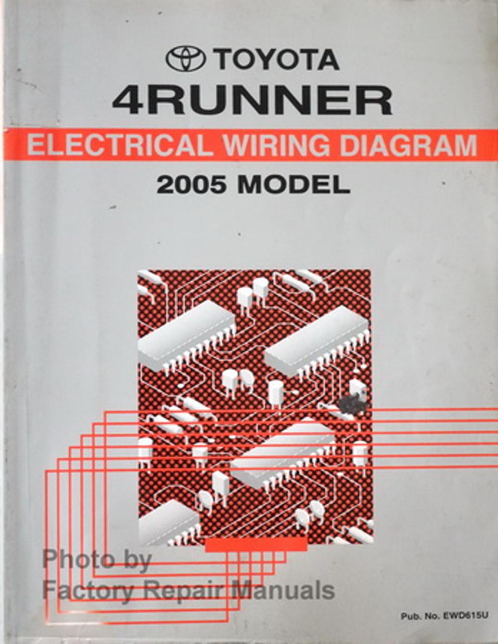2005 toyota 4runner electrical wiring diagrams manual - factory repair  manuals  factory repair manuals