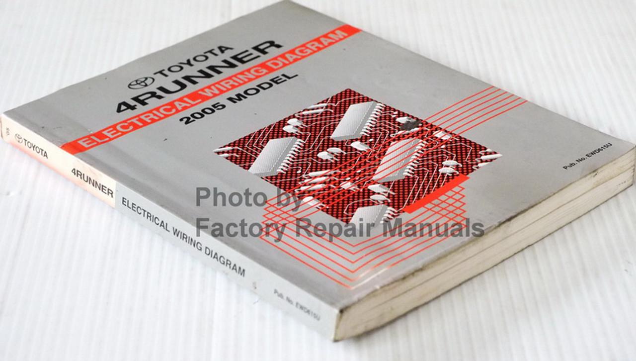 2005 Toyota 4runner Electrical Wiring Diagrams Manual Factory Repair Manuals
