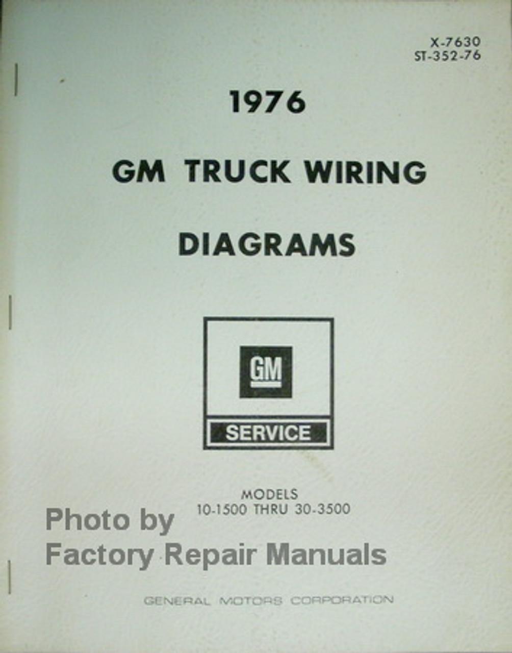 1976 Chevy 10-35 GMC 1500-3500 Truck Suburban Blazer Van Wiring Diagrams -  Factory Repair ManualsFactory Repair Manuals