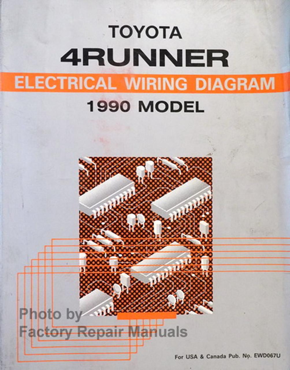 1990 Toyota 4runner Electrical Wiring Diagrams Manual