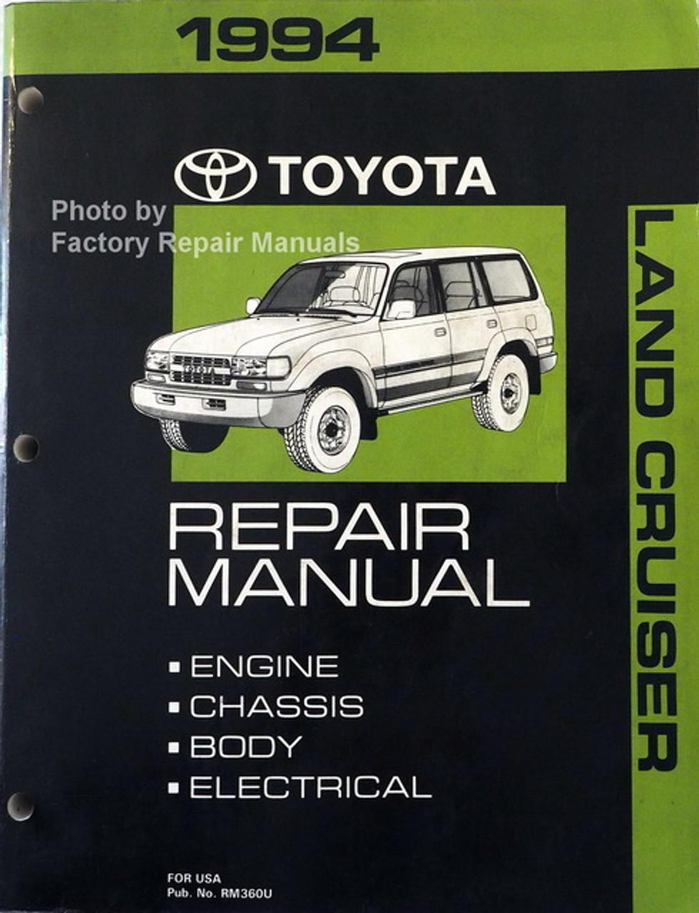 1994 Toyota Land Cruiser Factory Service Manual Original Shop Repair Factory Repair Manuals