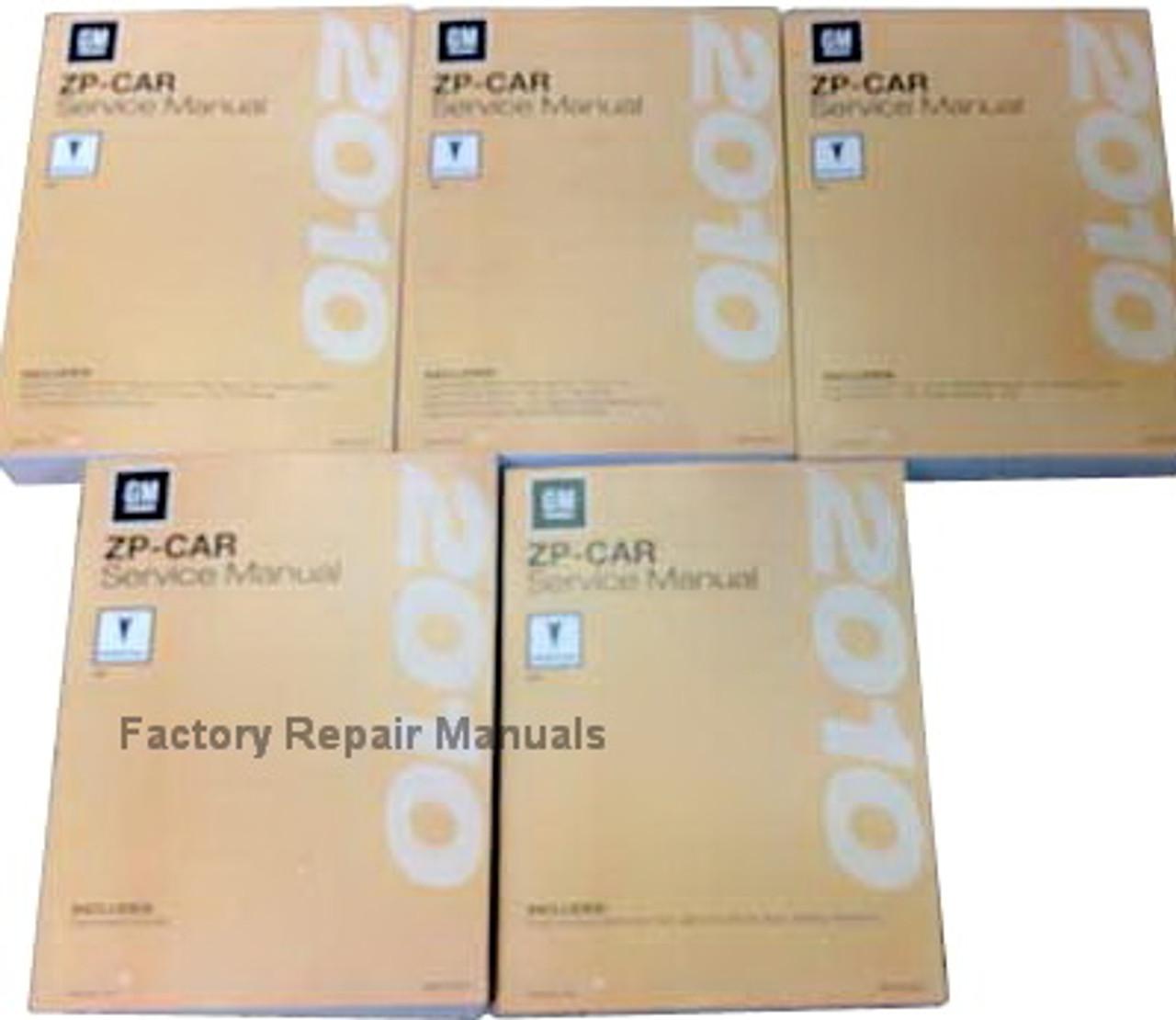 2010 Pontiac G6 Factory Shop Service Manual 5 Volume Set
