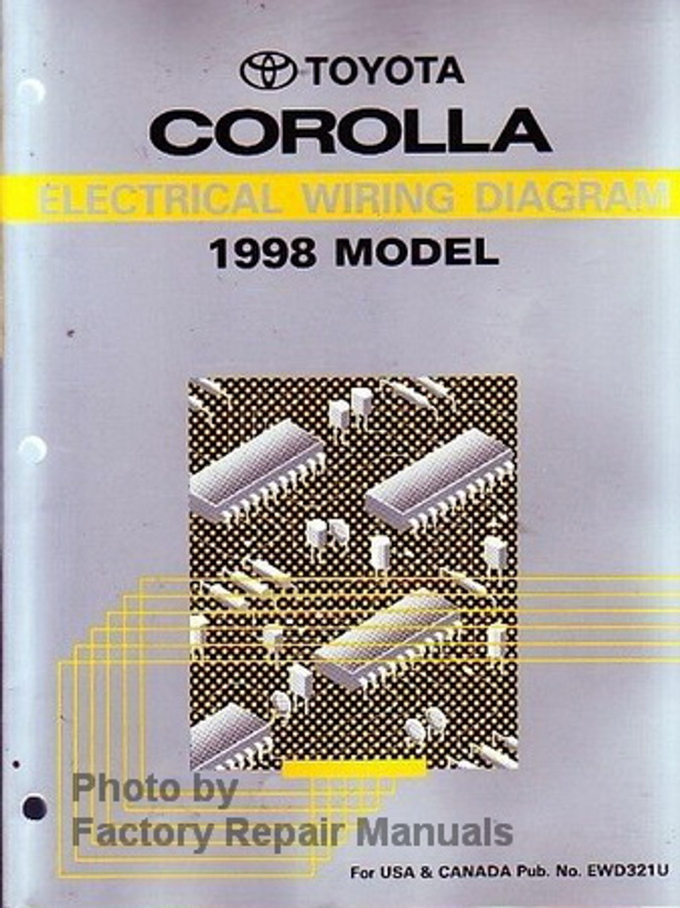 1998 Toyota Corolla Electrical Wiring Diagrams Original