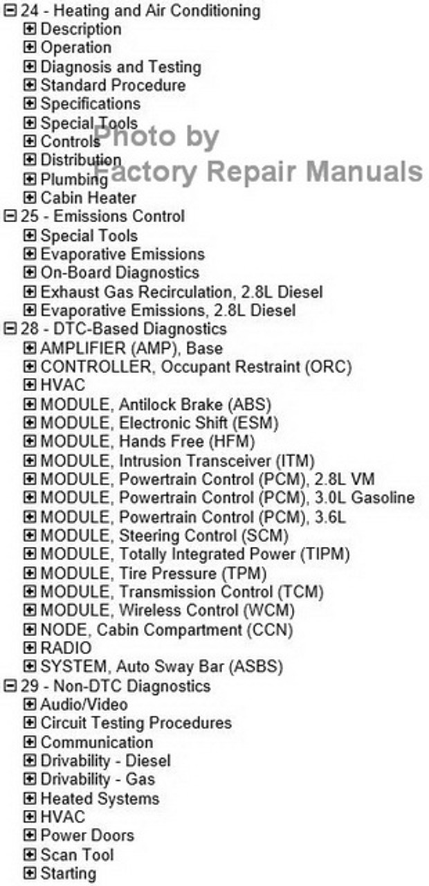 2016 Jeep Wrangler Factory Service Manual USB Original