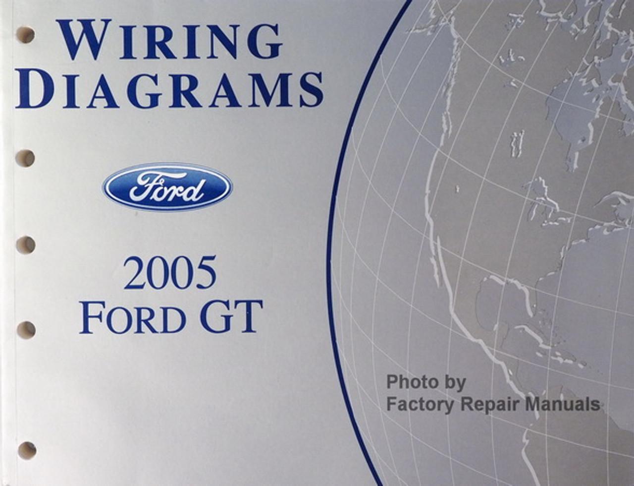 2005 FORD GT Wiring Diagrams Manual OEM