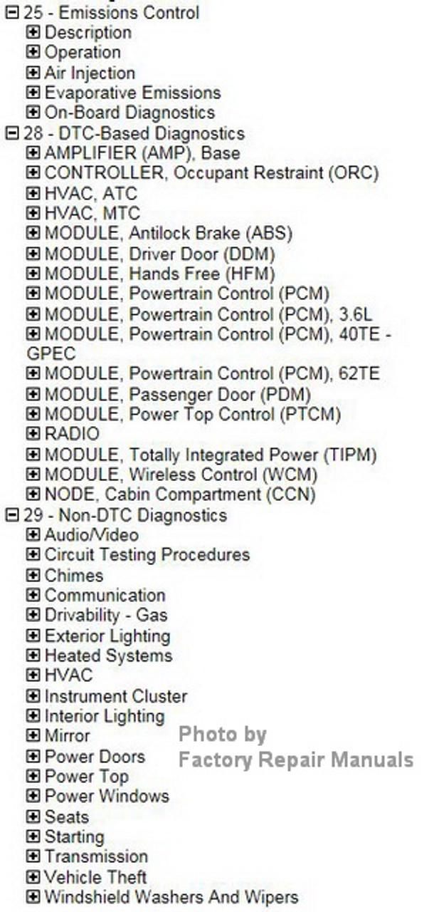 2016 Chrysler 200 Factory Service Manual CD Original Shop