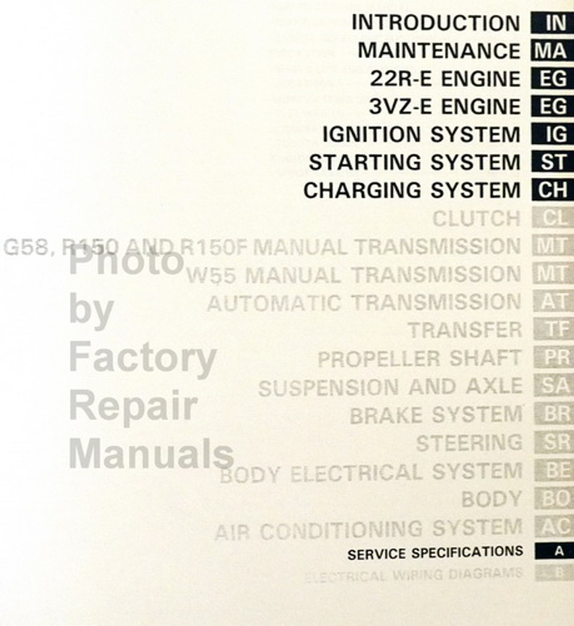 1993 Toyota Pickup Truck Factory Service Manual Set