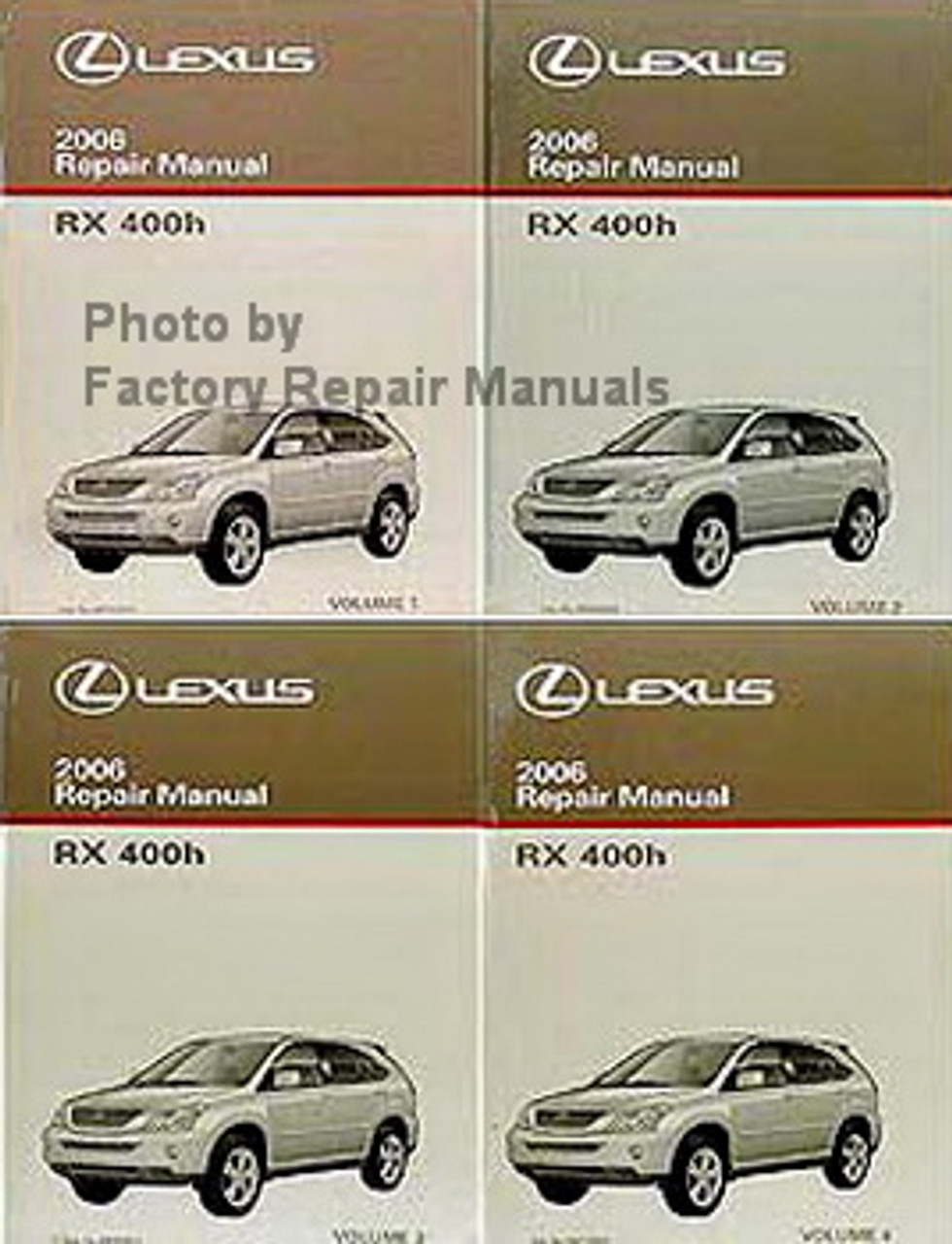 2006 Lexus Rx400h Factory Service Manual Set Original Shop Repair Factory Repair Manuals