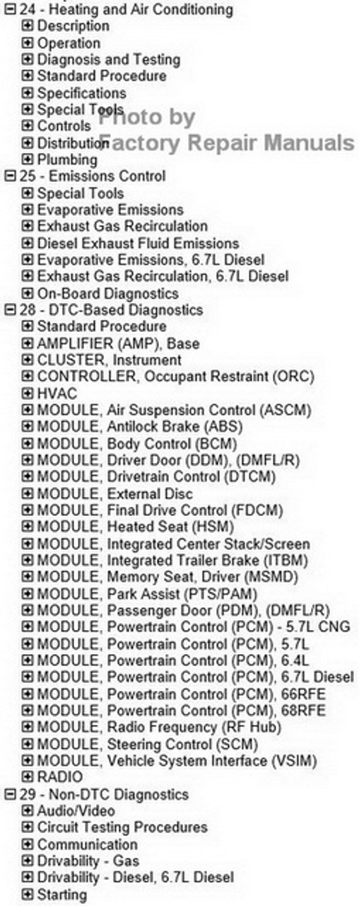 2017 Dodge RAM 2500 Factory Service Manual CD Original