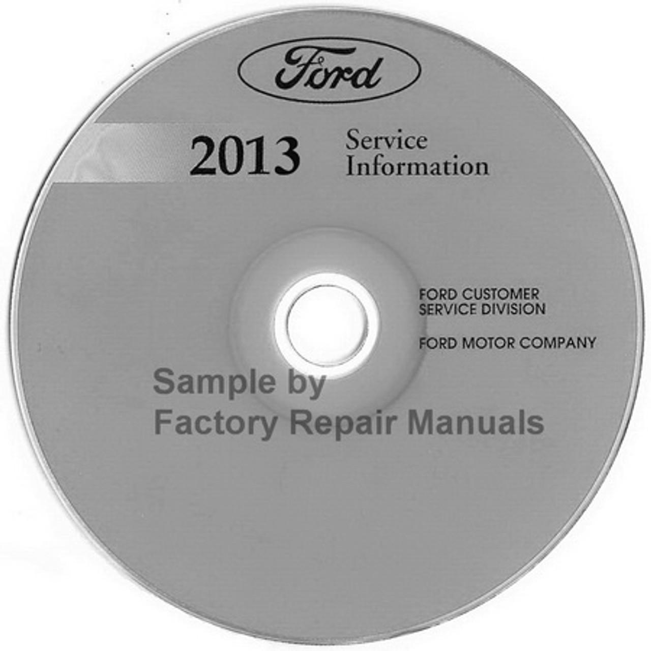 2013 Ford Flex Factory Service Manual Cd Original Shop