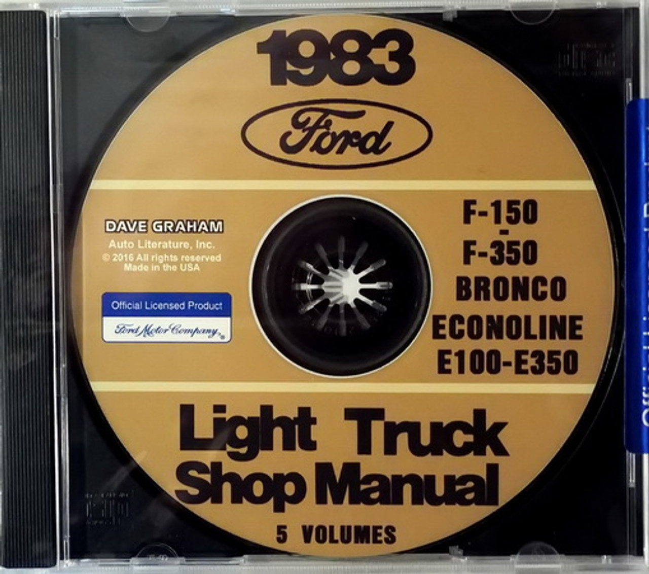 1983 Ford F150 F250 F350 Truck Econoline Bronco Factory Shop Service Manual  CD