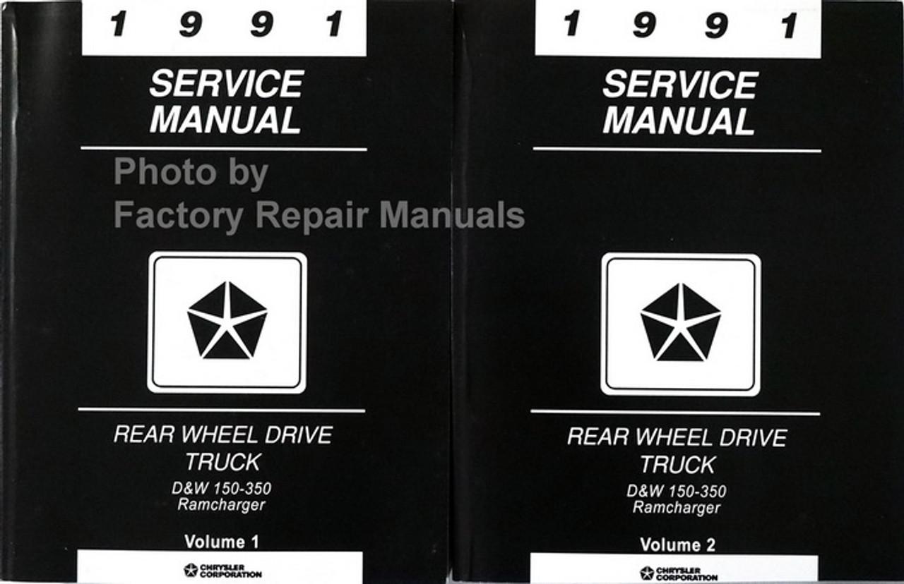 1993 Dodge Ram Truck Ramcharger Shop Service Repair Manual CD