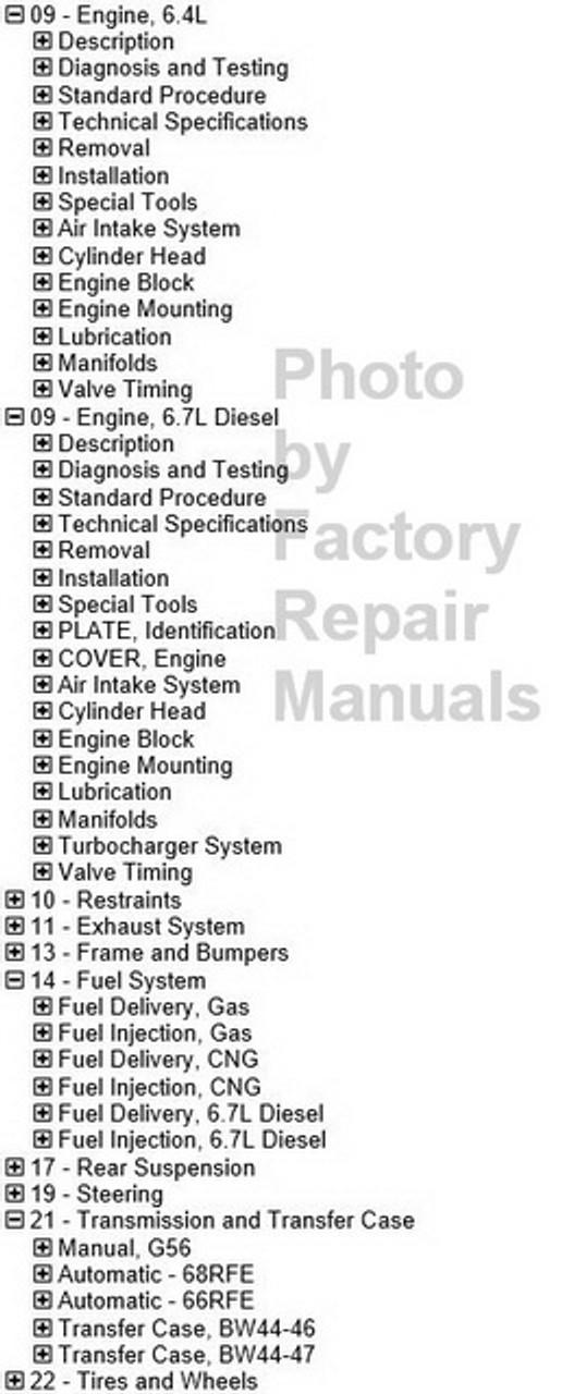 2011 Dodge RAM 2500 DJ Factory service Repair Information Manual On USB 11075B