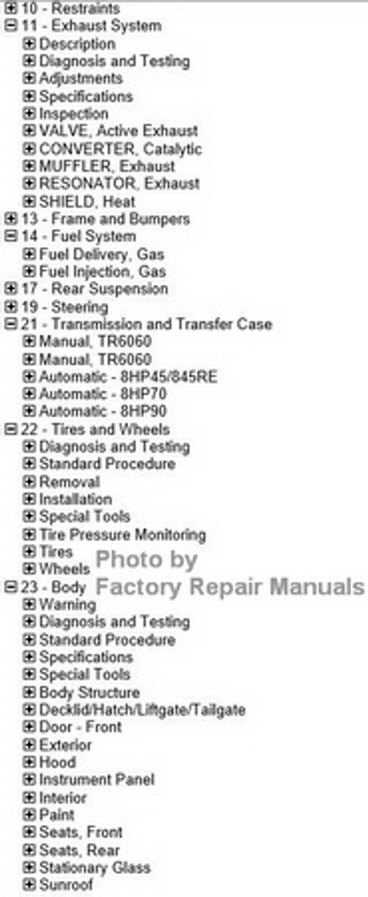 2018 Dodge Challenger Factory Service Manual USB Original