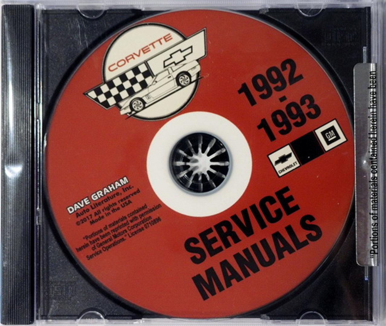 1996  CORVETTE SHOP MANUAL  ON CD
