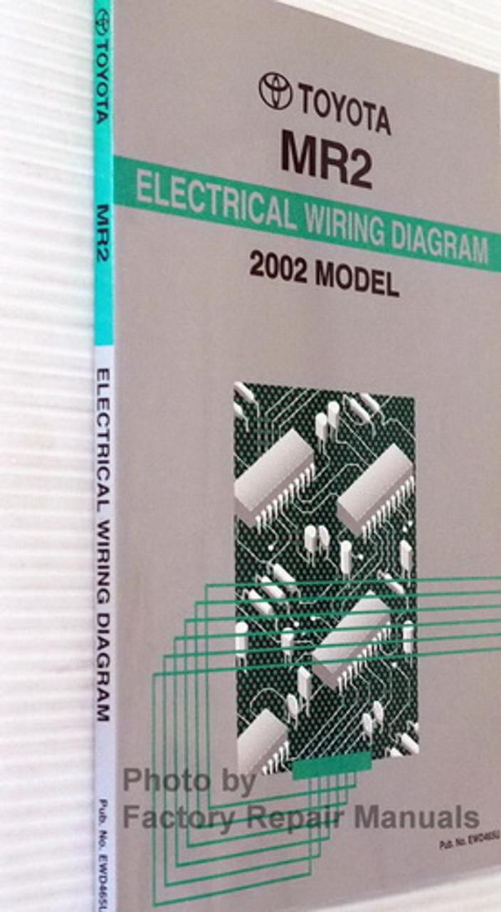 2002 Toyota Mr2 Spyder Electrical Wiring Diagrams Original Manual Factory Repair Manuals
