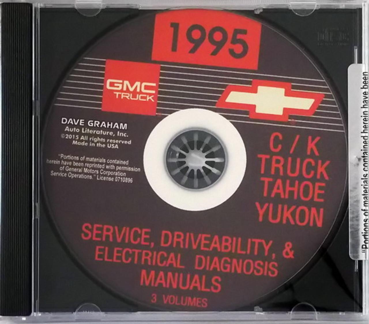 1995 Chevy Gmc C K 1500 3500 Truck Tahoe Suburban Yukon Shop Service Manual Cd Factory Repair Manuals