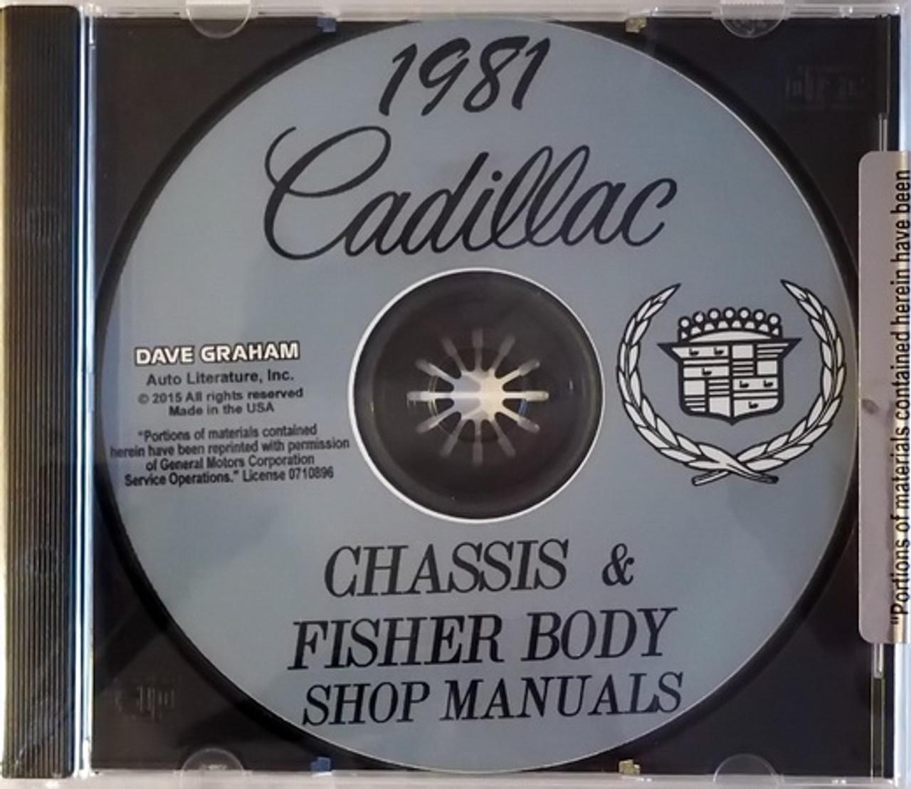 1950 51 CADILLAC  SHOP//BODY //PARTS MANUAL ON CD