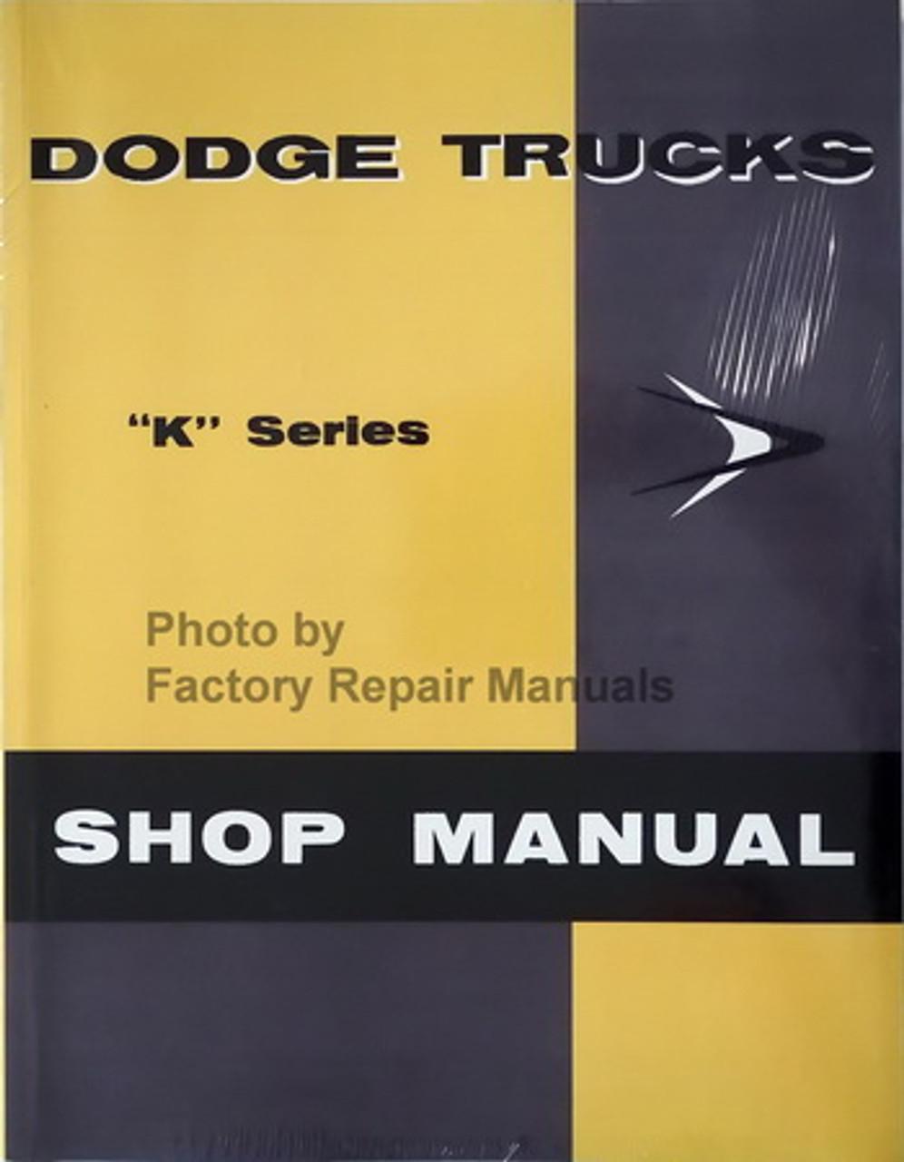 1957 dodge truck wiring diagram 1957 dodge truck van power wagon factory shop manual service  1957 dodge truck van power wagon