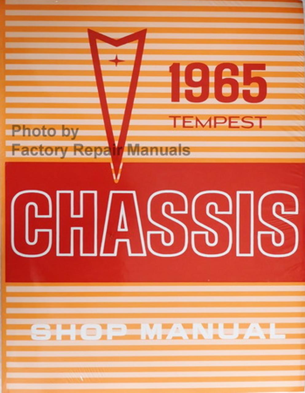 1966 Pontiac Tempest GTO LeMans Factory Service Manual Reprint Shop Repair Book