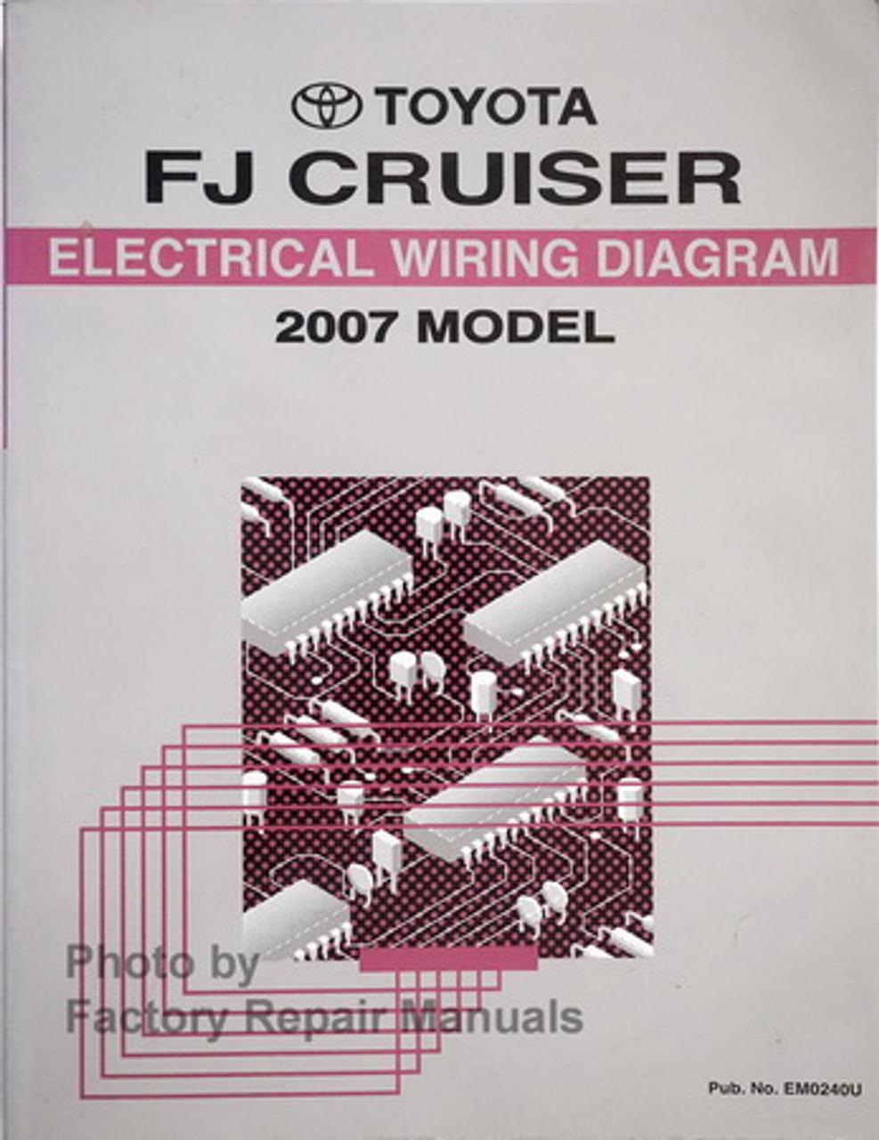 2007 toyota fj cruiser electrical wiring diagrams original manual - factory  repair manuals  factory repair manuals