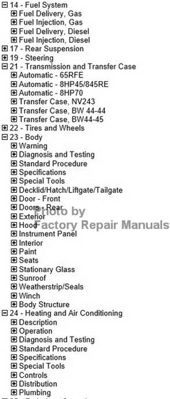 2017 Dodge RAM 1500 Factory Service Manual USB Original
