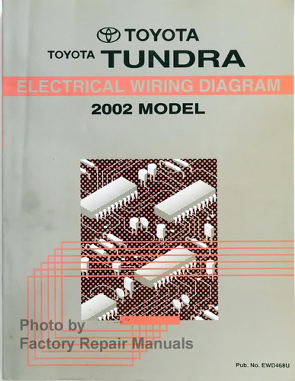 2002 Toyota Tundra Electrical Wiring Diagrams Original Factory Manual Factory Repair Manuals