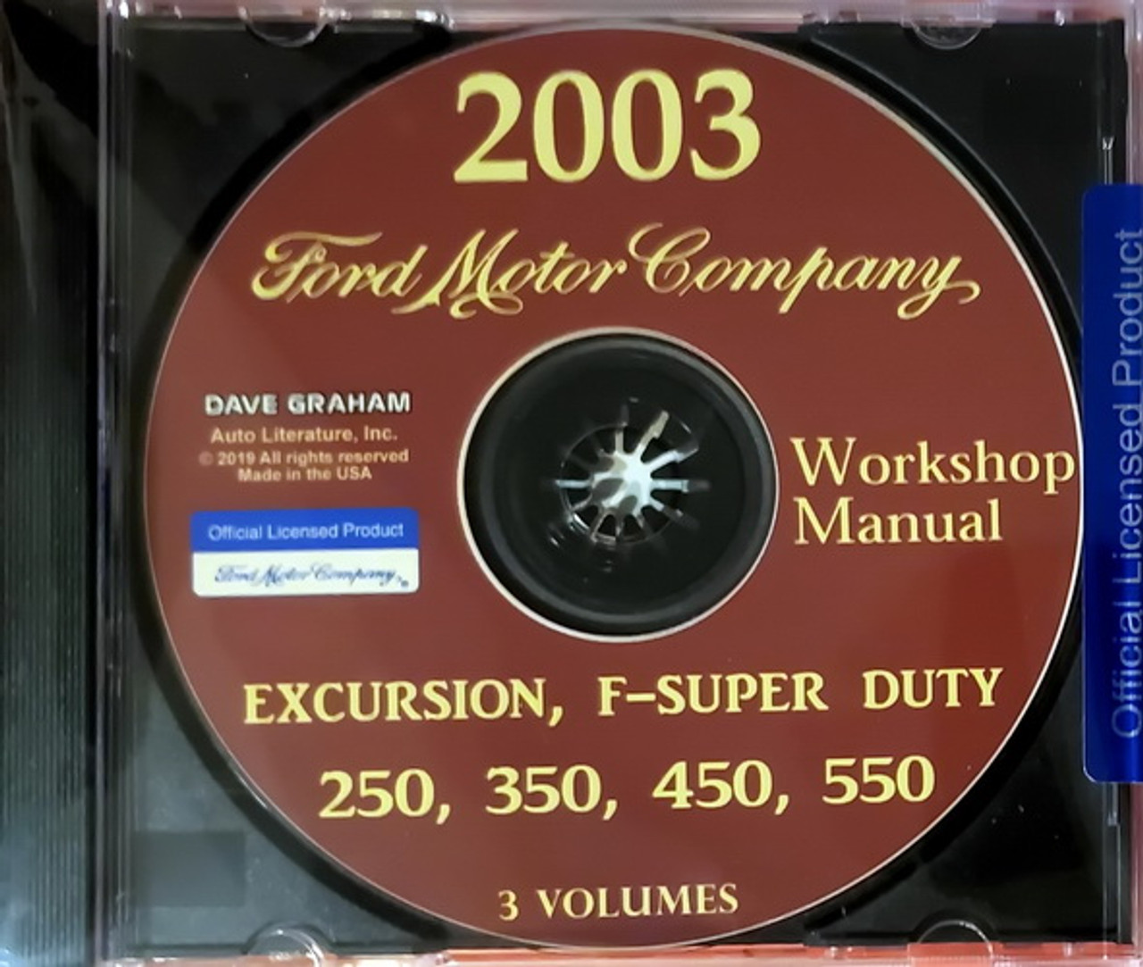 2003 Ford F250 F350 F450 F550 Super Duty Truck And Excursion Factory Shop Service Manual Cd Factory Repair Manuals