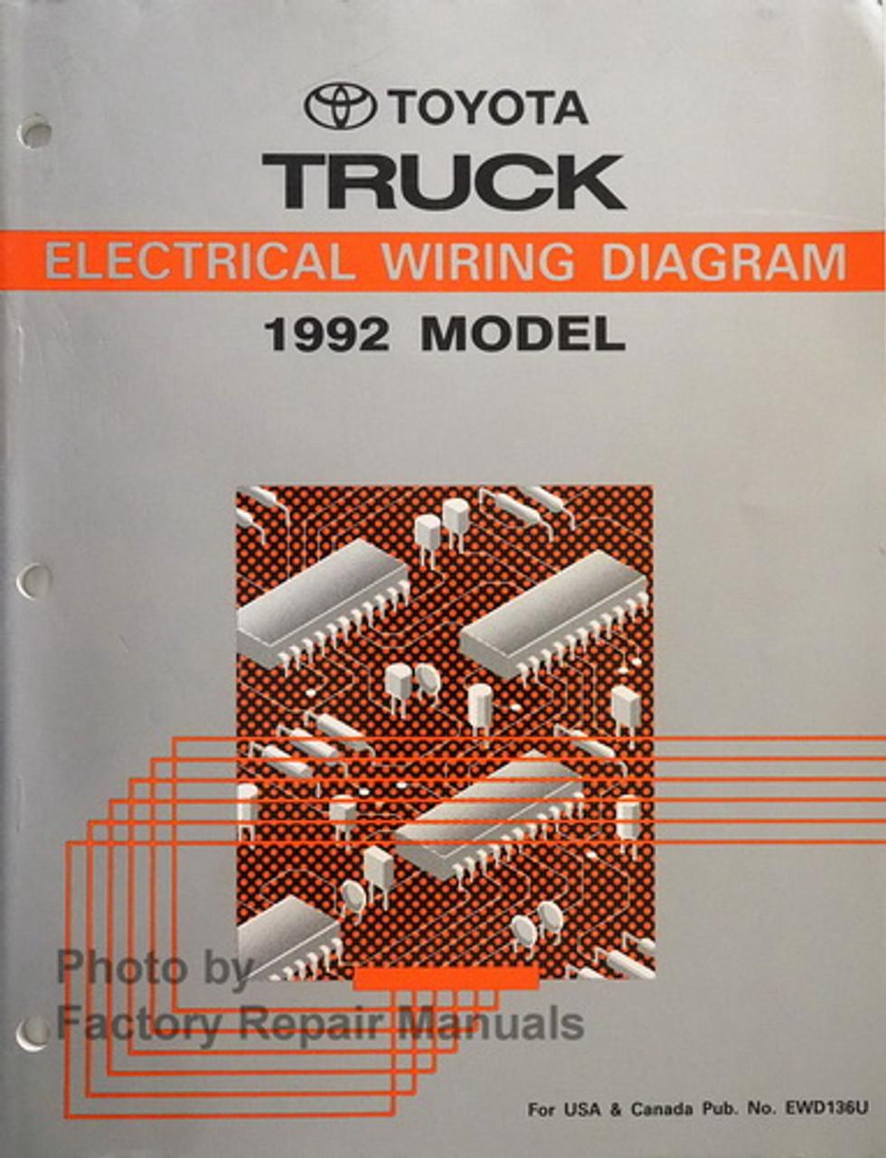 1992 Toyota Pickup Truck Electrical Wiring Diagrams Original - Factory  Repair ManualsFactory Repair Manuals