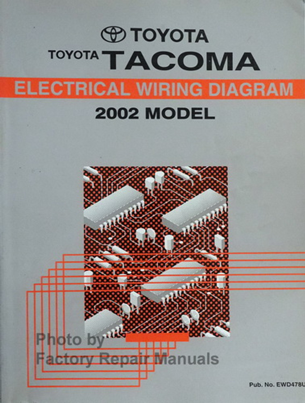 2002 Toyota Tacoma Electrical Wiring Diagrams Original Manual - Factory  Repair ManualsFactory Repair Manuals