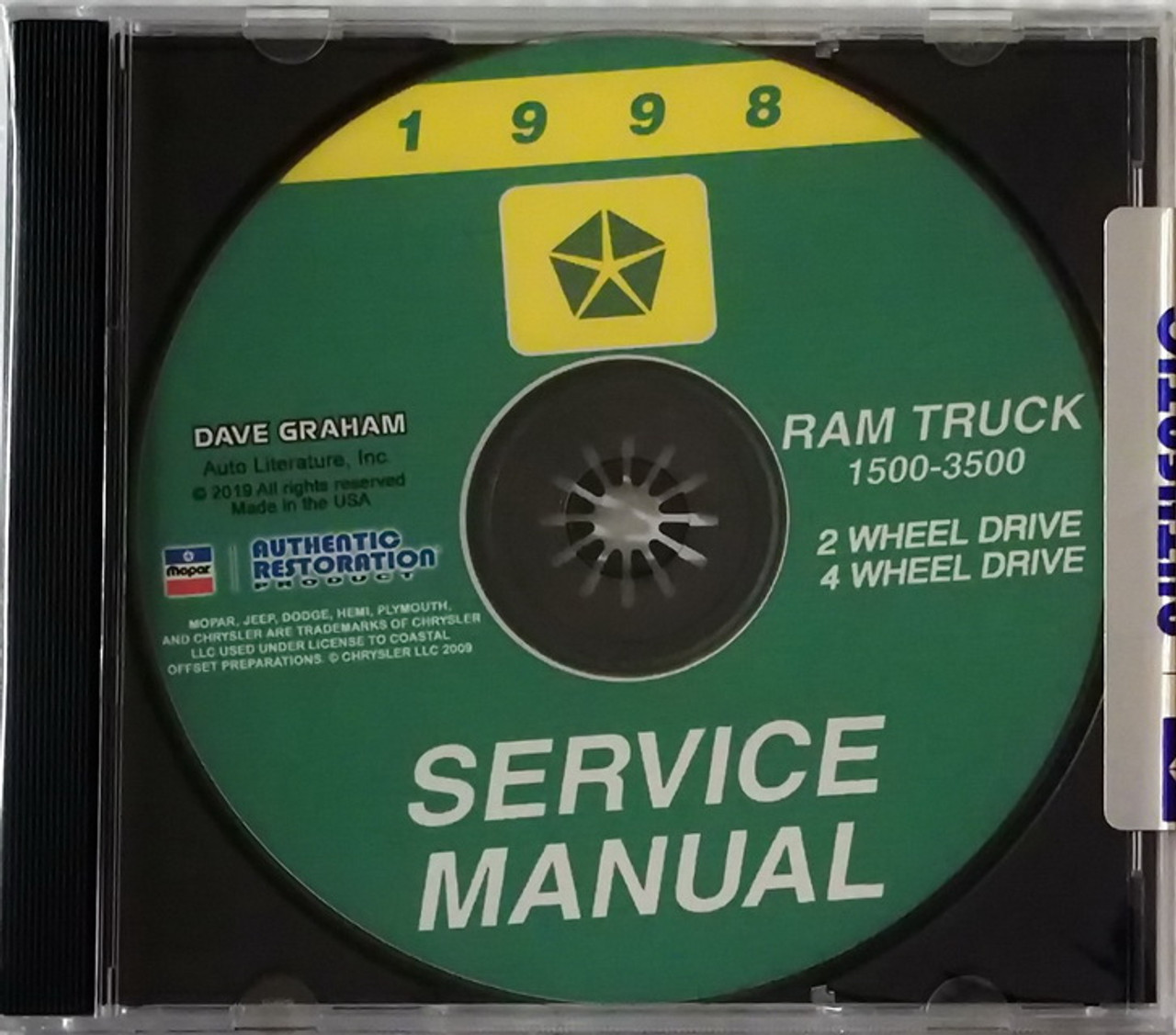 2000 Dodge Ram Truck Shop Manual CD 1500-3500 Pickup Gas Diesel Service Repair
