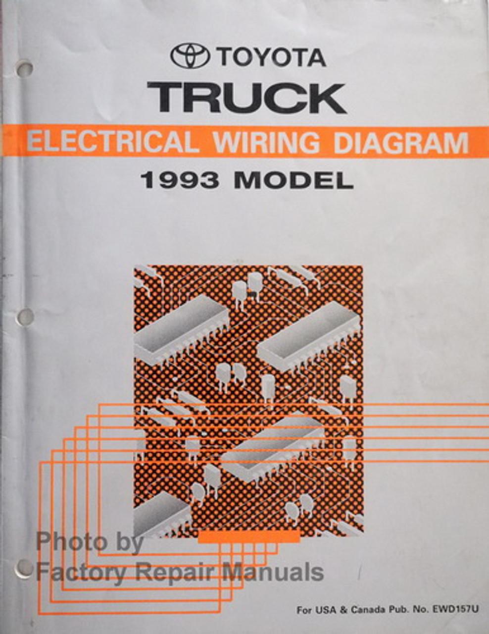1993 Toyota Pickup Truck Electrical Wiring Diagrams Original Factory Manual  - Factory Repair ManualsFactory Repair Manuals