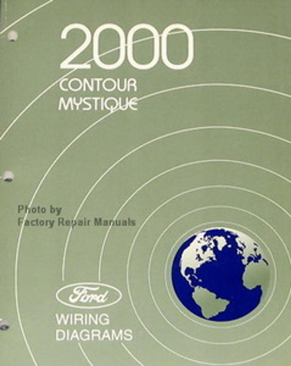 2000 Ford Contour  Mercury Mystique Electrical Wiring Diagrams - Original Manual