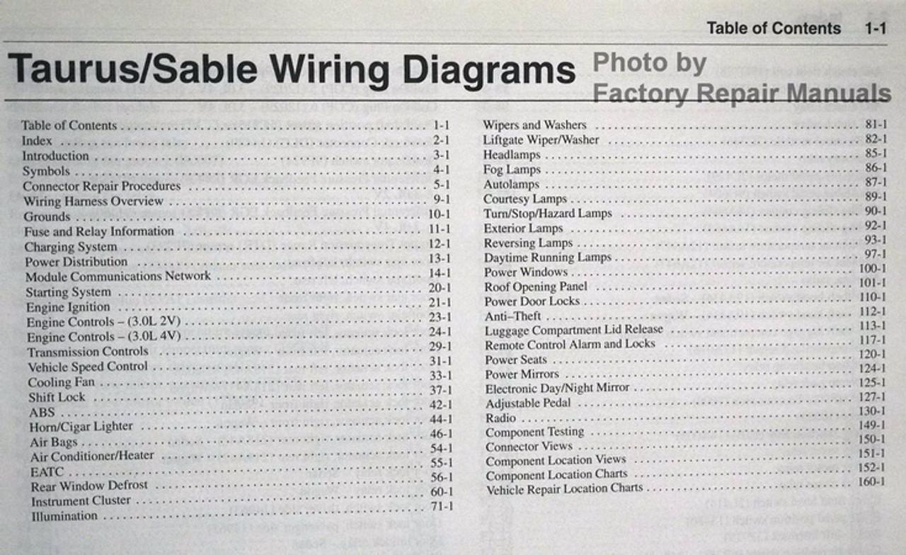 Diagram 2003 Ford Taurus Mercury Sable Wiring Diagrams Original Full Version Hd Quality Diagrams Original Outletdiagram Politopendays It