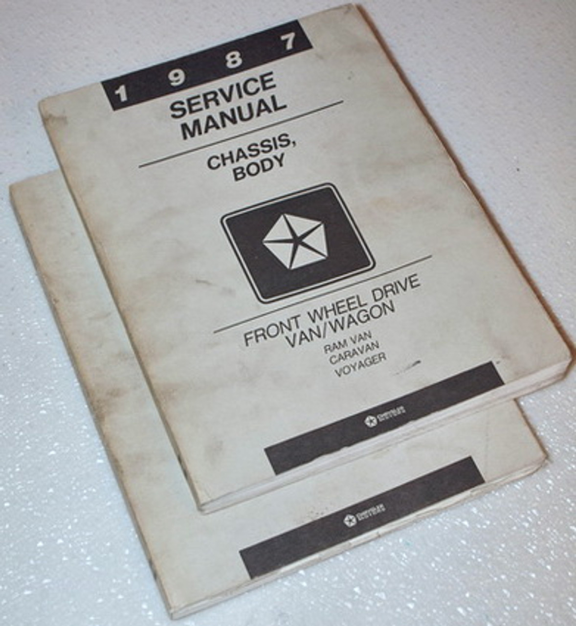1984 Dodge Ram Van Plymouth Voyager Dodge Caravan FWD Chassis Body Manual OEM