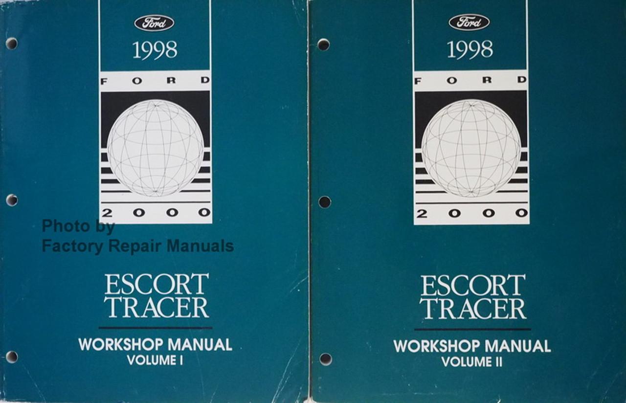 1998 Ford Escort Sedan Wagon Mercury Tracer Factory Shop Service Manual Set Original Factory Repair Manuals